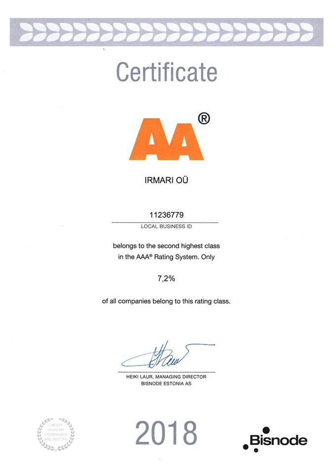 Certificateaa2018